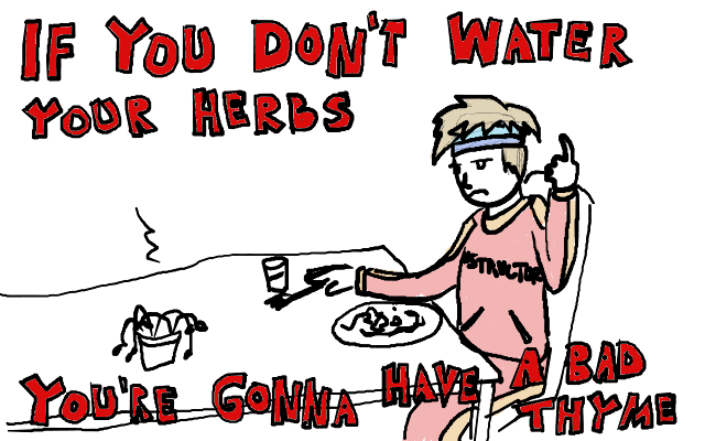 this joke was a long thyme coming.