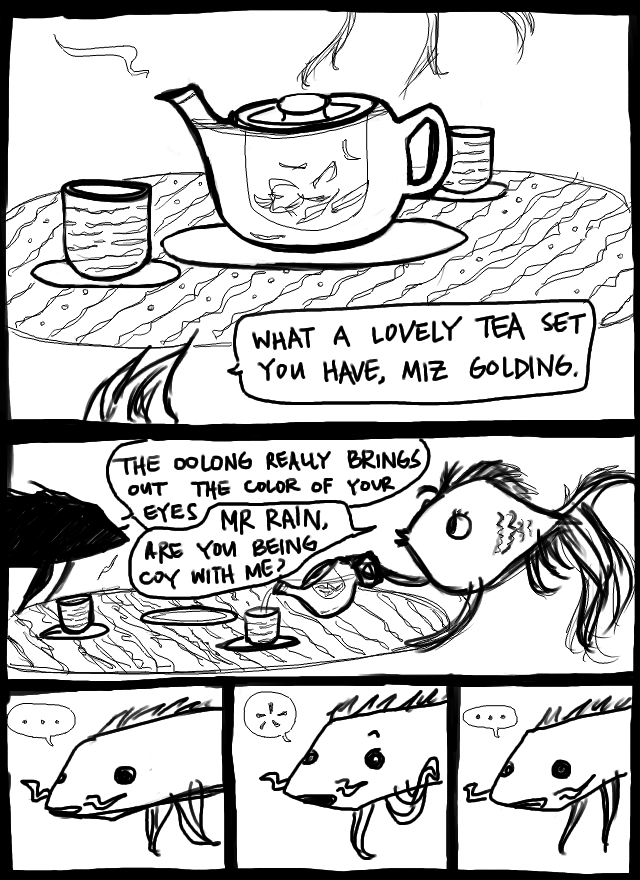 the real question is, how are they drinking tea underwater???