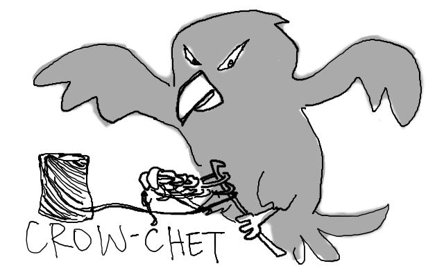 a half double crowchet should be a ravenstitch