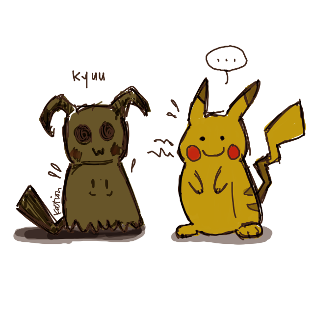 the art for mimikkyu came out the other day and i just can't stop thinking about it.