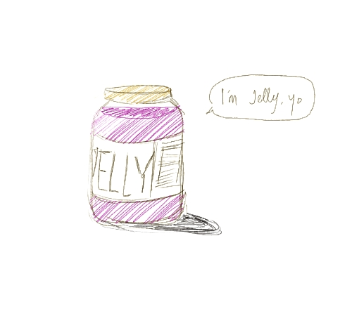 the difference between jam and jelly is WHAT IS THIS, A CRUDE JOKE