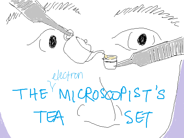 it's too bad that at that scale the physical properties of the tea set would probably cause tea to stay in the teapot